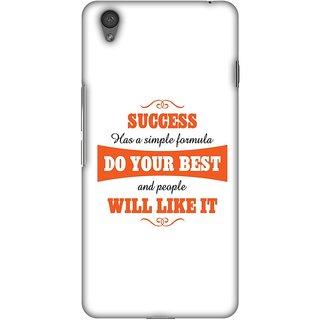 Amzer Designer Case - Success Do Your Best For OnePlus X