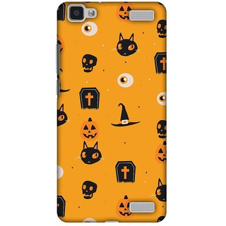 Amzer Halloween Designer Cases - Spooky Collage For Vivo V1 Max