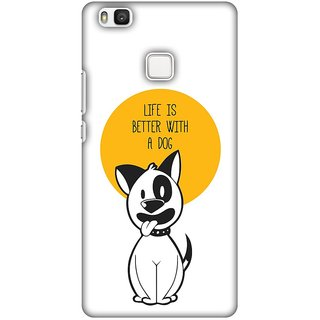 Amzer Designer Case - Life Is Better With A Dog For Huawei P9 Lite