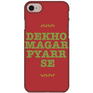 Amzer Designer Case - Dekho Magar Pyaar Se For IPhone 8