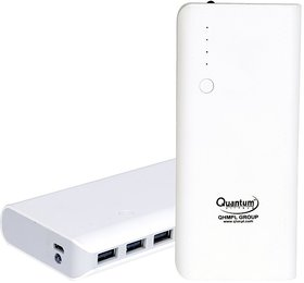 10000mAh QUANTUM HI-TECH Power Bank with 2 AMP(MAX)-3 USB OUTPUT PORT (MAKE IN INDIA) QHM10000