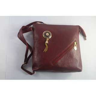 Women casual Maroon sling bag