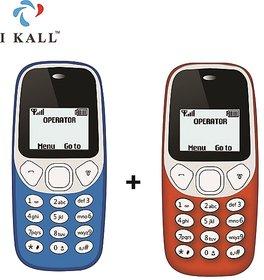 Set of 2 IKall K71 (Single Sim, 1.4 Inch Display, 800 Mah Battery)
