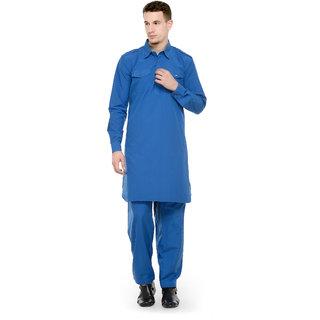 RG Designers Dark Blue pathani kurta Salwar Set