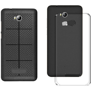 Mobik Back Cover For Micromax Canvas Spark 3 Q385 With Transparent Back Cover