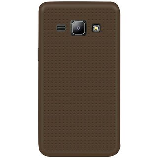 Samsung Galaxy J1 Ace Soft Silicon Cases Mobik - Brown