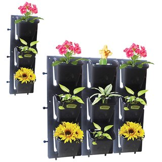 Expandable Creeper Planter 12 Pots And 3 Fixing Stand Or Vertical Wall Mountable Expandable Planter