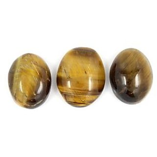 Be You 36.45 cts(40.05 ratti) Natural African Tiger Eye AAA Quality 1 pcs 18.5x15x6 mm  2 pcs 17x13x7.5 mm size Cabochon Oval Shape Loose gemstones