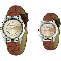 Grandson Brown Leather Strap Casual Analog Watch For Co