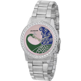 Grandson Silver Casual Analog Watch For Girl's And Women