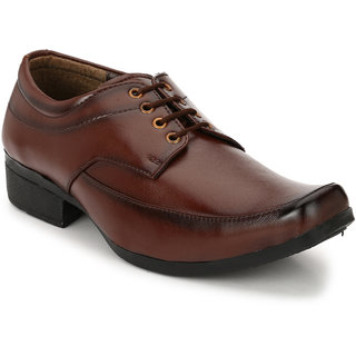 Groofer Men's Brown Formal Lace-up Shoes