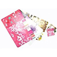 Flower Design Table Mats 6 With 6 Coasters-003(48)