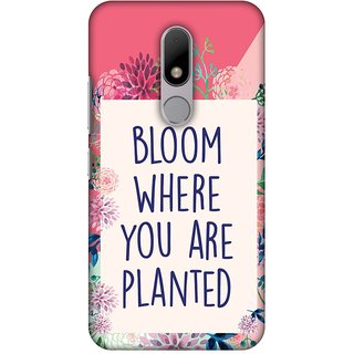 Amzer Designer Case - Bloom Where You Are.. For Motorola Moto M