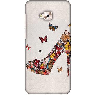 Amzer Designer Case - Butterfly High Heels For Asus ZenFone 4 Selfie Pro ZD552KL