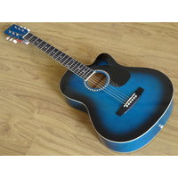 Dolphin Acoustic Guitar With Pick Up Jack Blue