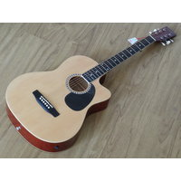 Dolphin acoustic guitar with pick up jack Natural