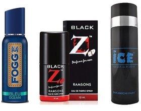 Deo trio  Fogg deo + Pocket perfume + Ice deo