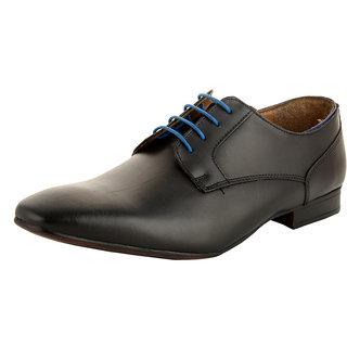 Allen Cooper AC-12256 Black Premium Leather Formal Derby Shoes