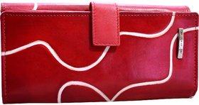 arpera Signature Red Genuine Leather Ladies Wallet  C11445-3A