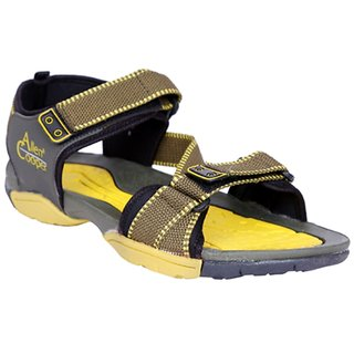 Allen Cooper ACF-1020 Olive Yellow Men's Sandals