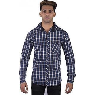 Men's Checkered Casual Multicolor Shirt
