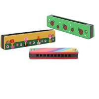 Onlineshoppee Wooden Harmonica Musical Instrument Mouth
