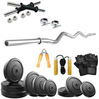Livestrong 24 kg Home Gym combo with 3 ft curl Rod + Accessories