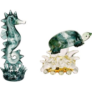 Somil Attractive Crystal Seahorse & Tortoise Feng-sui Combo-C75