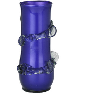 Somil Purple Flower Vase New Design Decorate With Glass Lase