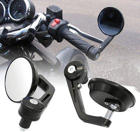 Autosun 7/8 22cm Motorcycle Rear View Mirrors Handlebar Bar End Mirrors Universal (Universal Bike)