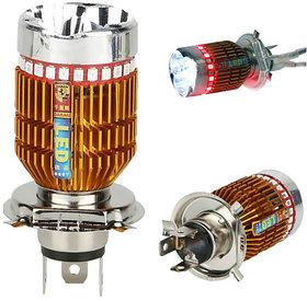 Bikers World H4 LED Flasher Headlight Bulb of 8000k For All Bikes