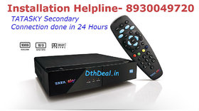 TATASKY HD Secondary connection with 1 Month Pack+ HD Pack and Installation(Multi Room Conenction)