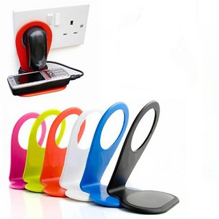 KSJ 1 PC Plastic Mobile charging Stand (Assorted Colors)