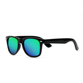 Royal Son UV Protected Wayfarer Sunglasses For Men And Women (RS006WF53Green Mirrored Lens)