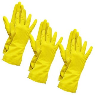 3 pair House Hold Kitchen Cleaning Gloves
