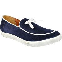 Allen Cooper Felix Navy Leather Casual Shoes