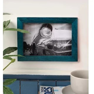 Onlineshoppee Turquoise Mango Wood Photo Frame