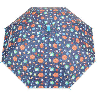 FabSeasons Kids Fancy Graphics Printed Single Fold Stick Automatic Umbrella For Rains Summer and Sun Protection