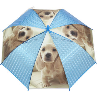 FabSeasons Kids Fancy 3D & Digital Printed Single Fold Stick Automatic Umbrella For Rains Summer and Sun Protection