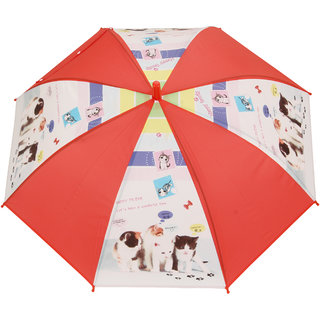 FabSeasons Kids Fancy Printed Single Fold Stick Automatic Umbrella For Rains Summer and Sun Protection