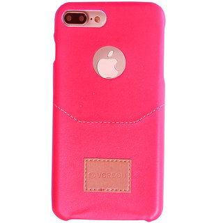 Iphone 7 plus Lather serise Classic Red Back cover shockproof flexible Thin layer Back Case Cover for Iphone 7 plus (Red)