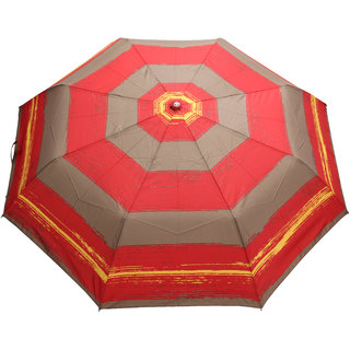 FabSeasons Multicolor 3 Fold Fancy Umbrella for Rain, Summer & All weather conditions