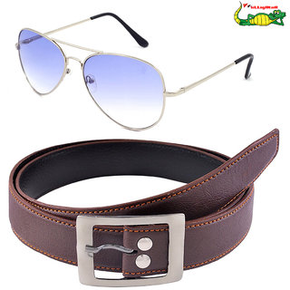 Elligator Mens Belt With Sunglasses(With Case)