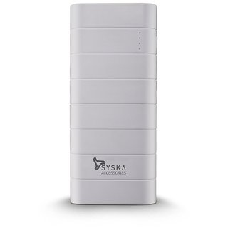Syska Power Boost100 10000mAH Power Bank  White  available at ShopClues for Rs.1649