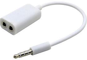 Vin 3.5mm stereo audio earphone splitter cable adapter