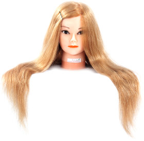 Ritzkart 27 100 Real Human Hair Mannequin For Trainers / Spl For Dye /Tong / Braiding