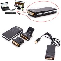 USB 2.0 UGA To DVI/VGA/HDMI Multi Display Dual Monitor Graphic Converter
