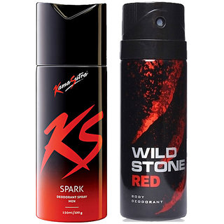 special offer Men's ks kamasutra and wild stone deo combo 150 ml (pcs 2)