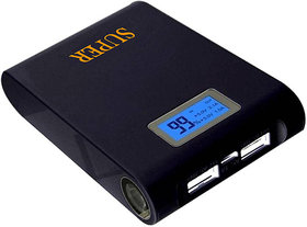 Super DIS-15 Original HIgh Speed Fast charge With Display Feature for all Mobile Phones 15000 mAh Power Bank  (Black)