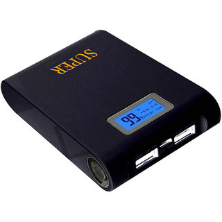 Orenics DIS-15 Original HIgh Speed Fast charge With Display Feature for all Mobile Phones 15000 mAh Power Bank  (Black)